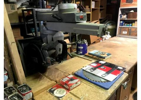 Tools for Sale (Radial Arm Saw, Bench Grinder, Miter Saw, Cargo Hauler, and more!)